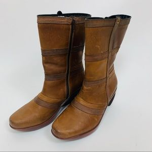 Naot Leather Brown Boots Made in Ireland Size 38